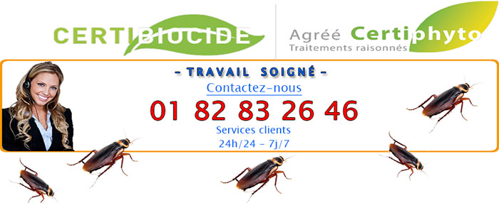 Désinfection Cafards Nogent sur Oise 60180